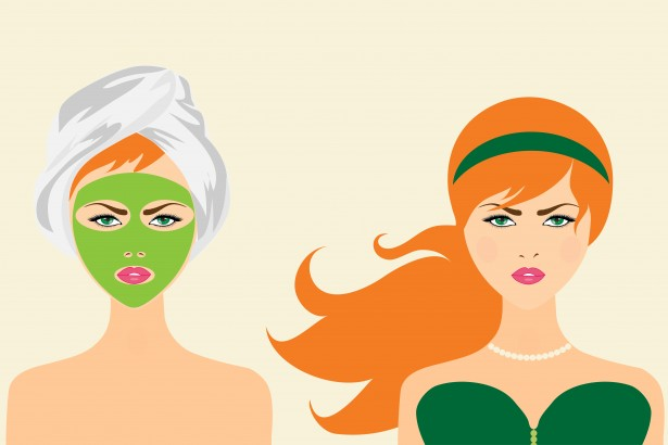 Green Clay Mask on Women's Face