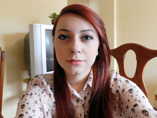 Girl With Pierced nose